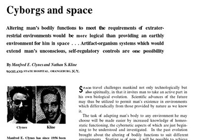 Cyborgs and space
